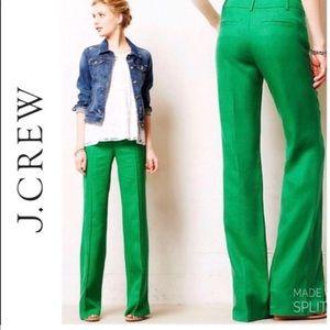 J Crew Green Cafe Trouser